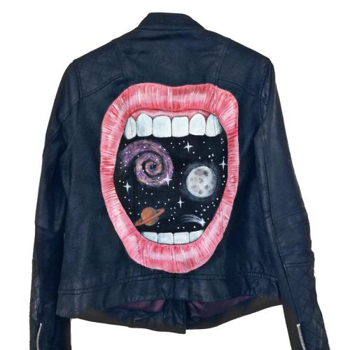 Leather Jacket Space for Breakfast