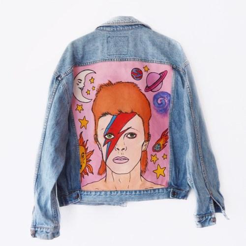 LIMITED EDITION Denim Jacket Cosmic Bowie