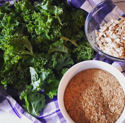 Hauptzutaten für die Kale Chips