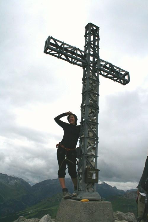 Klettersteig gehen bei Warth Schröcken