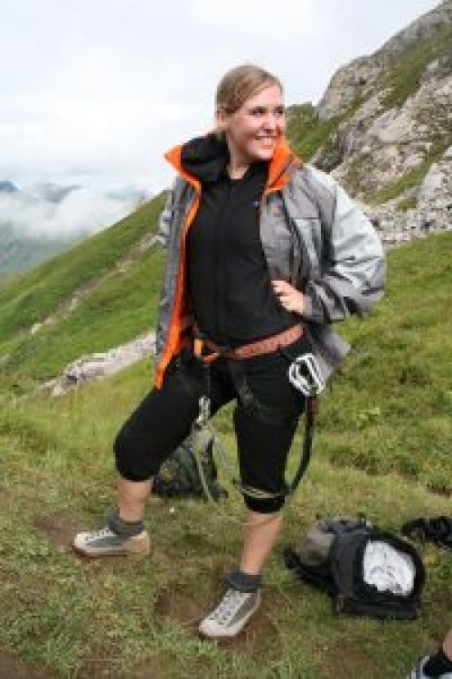 Klettersteig gehen mit Sicherung