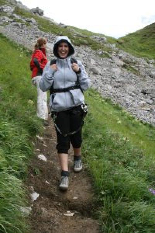 Klettersteig geschafft - gut gelaunt geht es zurück ins Tal