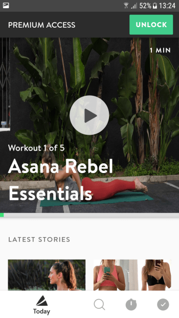 Fitness-App Asana Rebel