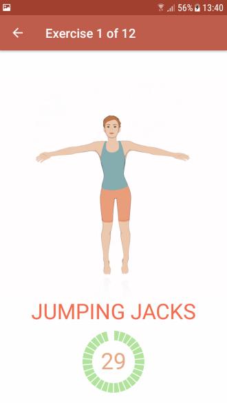 Fitness-App Seven - die Workouts sind easy mitzumachen