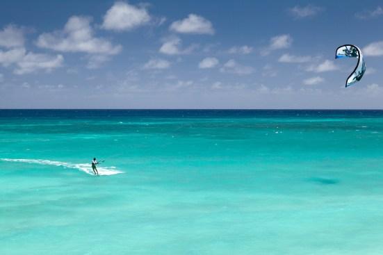 Kitesurfen hält fit auf Martinique