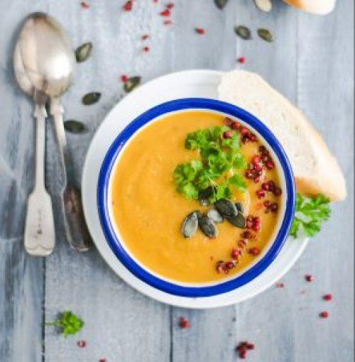 Vegane Kürbissuppe statt Kürbissoße
