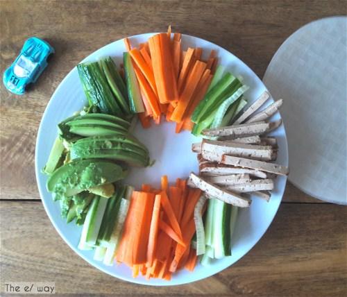 Zutaten für vegane Sommerrollen