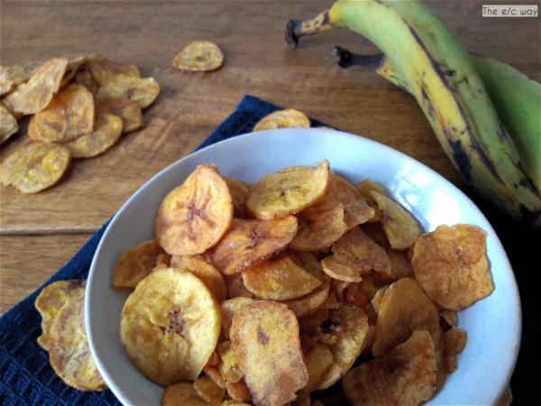 Kochbananenchips sind der perfekte Snack