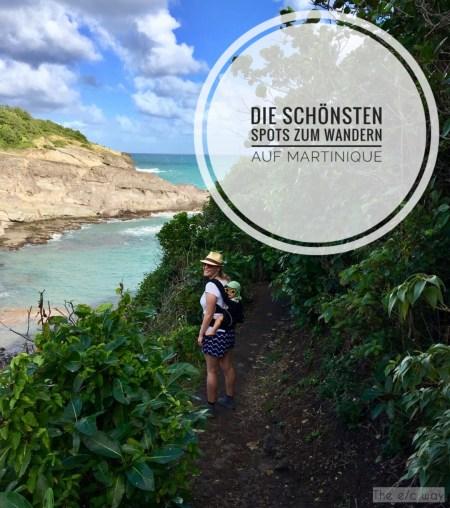 Wandern auf Martinique geht auch wunderbar mit Kind auf dem Rücken