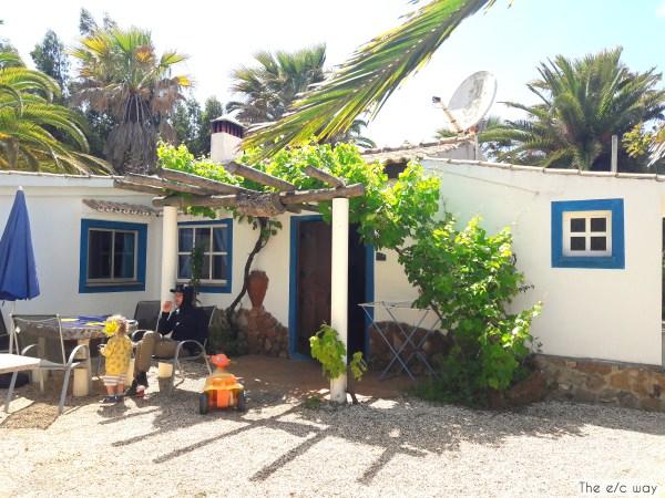 Unser süßes Häuschen auf der Quinta do Paraiso an der West-Algarve in Portugal