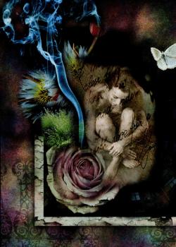 mystical artwork with tear