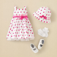 baby easter dress polka dots
