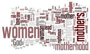 """Wordle of the speech, """"Are we not all mothers?"""" by Sheri Dew"""