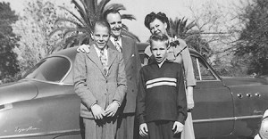 Howard and Claire Hunter, with their sons, John and Richard