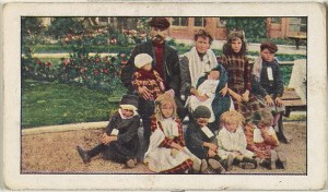 Kinney Brothers (American) Card No. 169, Belgian Refugees at the Alexander Palace, London, from the World War I Scenes series (T121) issued by Sweet Caporal Cigarettes, ca. 1914 American, Photolithograph; Sheet: 1 9/16 × 2 5/8 in. (3.9 × 6.7 cm) The Metropolitan Museum of Art, New York, The Jefferson R. Burdick Collection, Gift of Jefferson R. Burdick (Burdick 246, T121.171) http://www.metmuseum.org/Collections/search-the-collections/634990