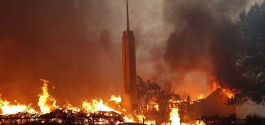Paradise California LDS church burns