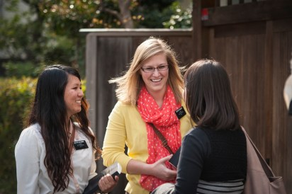 Sister missionaries tracting