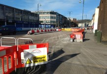 Road works, folly, Swansea