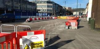 Road works, folly, Swansea