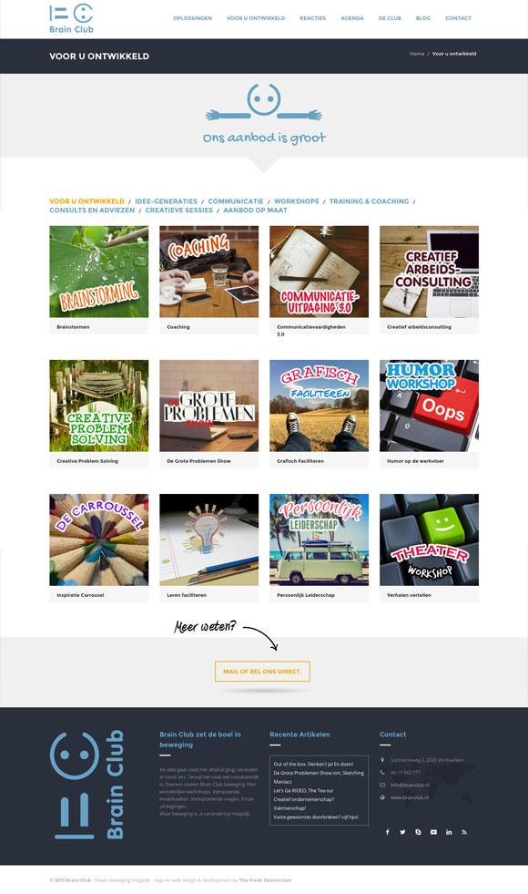 Brain Club website voor u ontwikkeld
