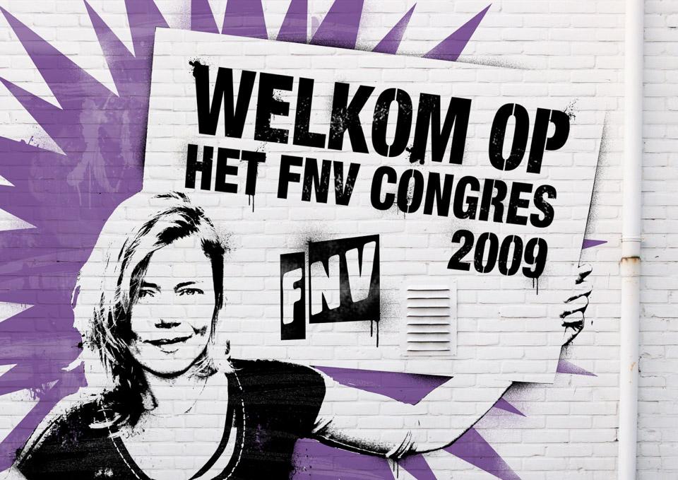 FNV_Congres_Welkomsbord