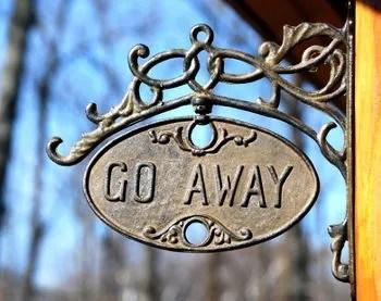 Go Away © Patricia Kullberg | Dreamstime.com