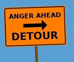 Anger ahead, detour © Paul H. Byerly