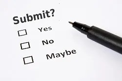 Submit? Yes, no maybe. © Harshmunjal | Dreamstime.com