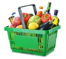 Full grocery basket © Monticelllo | Dreamstime.com