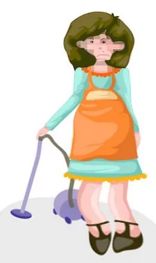 Caricature of a housewife © Pichayasri | Dreamstime.com