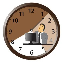 Worker watching the clock © Dmitry Skvorcov | Dreamstime.com