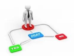 Yes, no, pray | freedigitalphotos.net