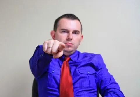 Bossy man © Agnieszka Guzowska   Dreamstime.com