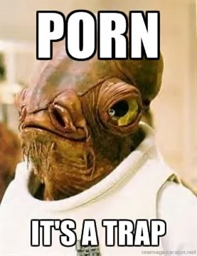 Porn - it's a trap! © http://shar.es/e6Z68