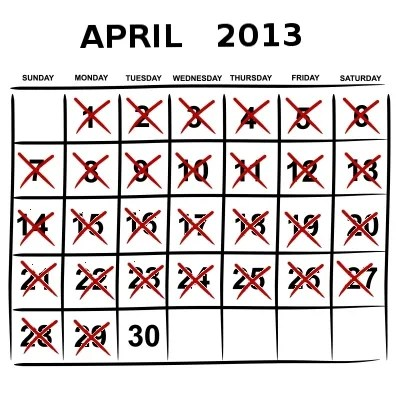 End of April © kjnnt| freedigitalphotos.net