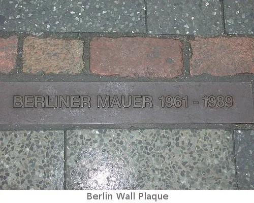Berlin Wall marker  Public Domain | commons.wikimedia.org
