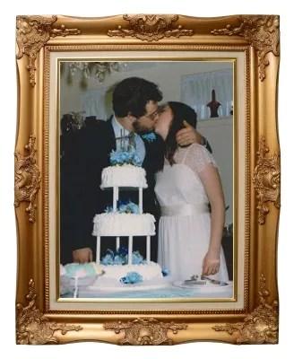Paul and Lori kissing by wedding cake Frame © antpkr   freedigitalphotos.net Wedding Picture © Paul H. Byerly