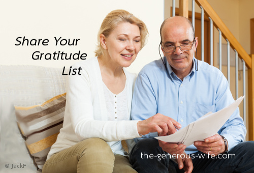Share Your Gratitude List - Be a voice that builds him up.