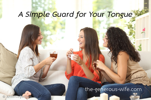 A Simple Guard for Your Tongue - Beat gossip!