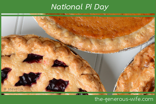 National Pi Day ♥ Celebrations are a great way to have fun with your husband, family, and friends.