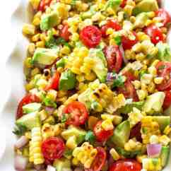 Paula Deen Kitchen Table Faucets Pull Down Corn, Avocado, And Tomato Salad - The Girl Who Ate Everything
