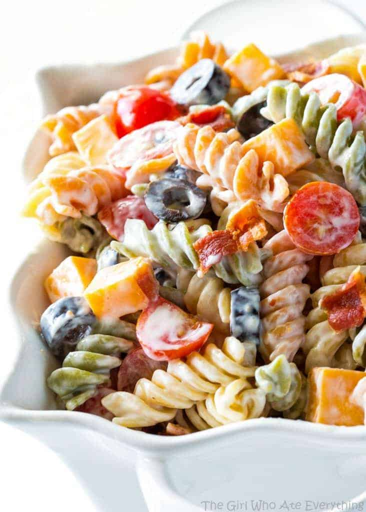 Bacon Ranch Pasta Salad The Girl Who Ate Everything