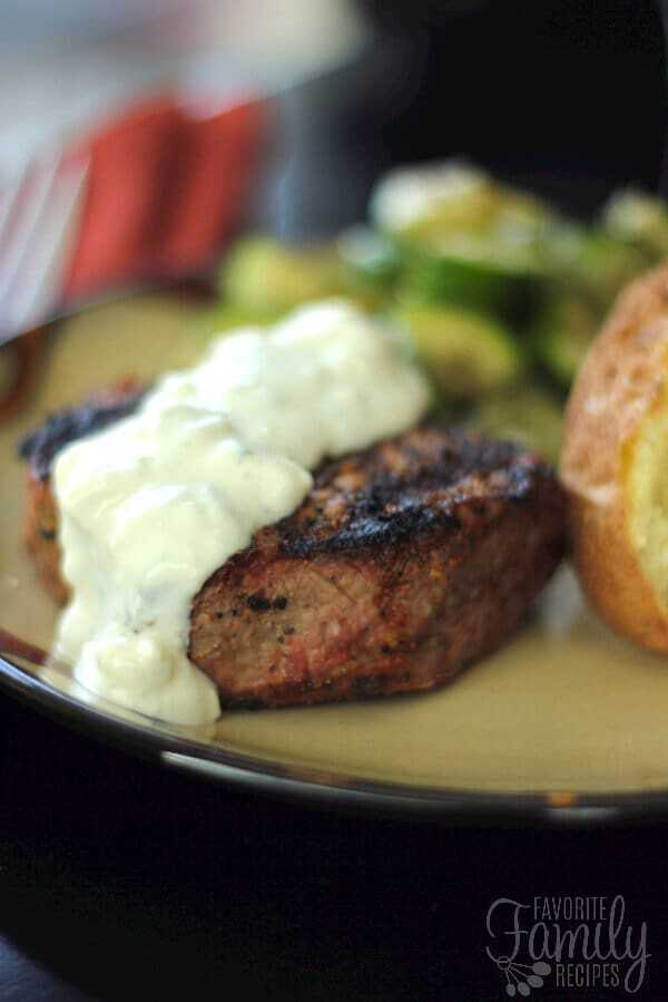 Filet Mignon with Blue Cheese Sauce