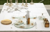 Fine dining tableware, banqueting, St Regis Singapore