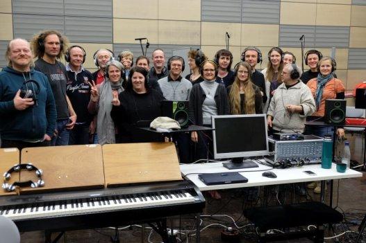Dresdner Gospel Chor im Tonstudio
