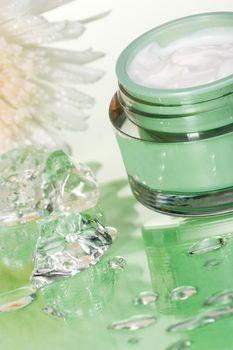 image of Organic facial cream in clear jar