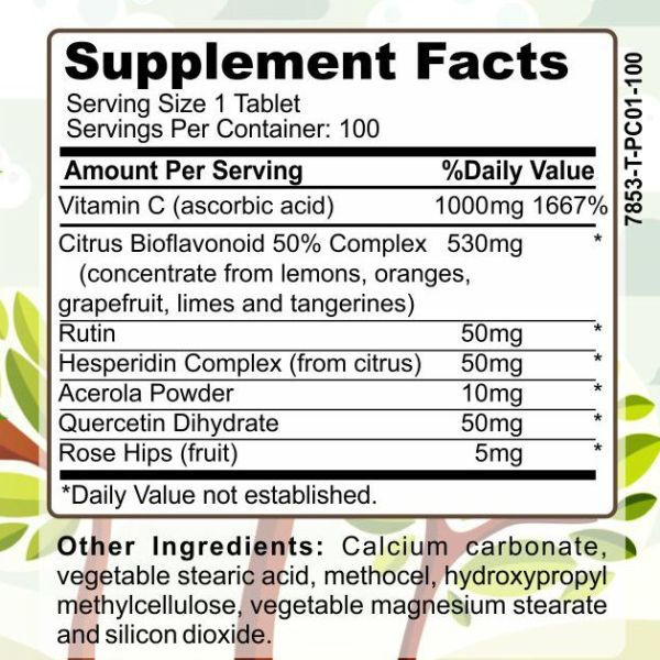 image of Herbal Forest vitamin c-1000 complex ingredients