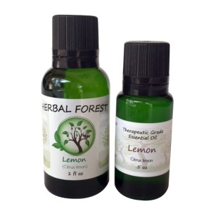 image of Herbal Forest lemon essential oil 1 oz and .5 oz