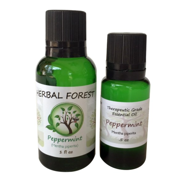 image of Herbal Forest peppermint essential oil 1 oz and .5 oz