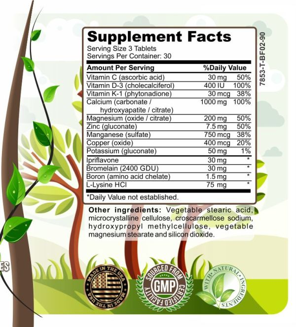 image of herbal forest bone support ingredients.